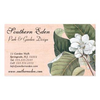 Elegant Antique Magnolia Engraving Business Card