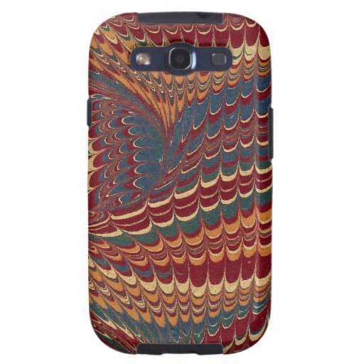 Elegant Antique Marbled Paper Rich Burgundy Red Samsung Galaxy S3 Case