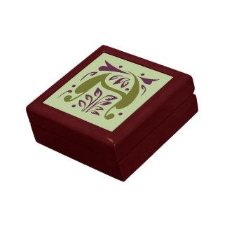 Elegant antique medieval letter A Trinket Boxes