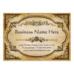 Elegant Antique Old Paper with Vintage Frame Pack Of Chubby Business Cards