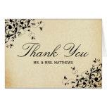 Elegant Antique Swirls Wedding Thank You Note Card