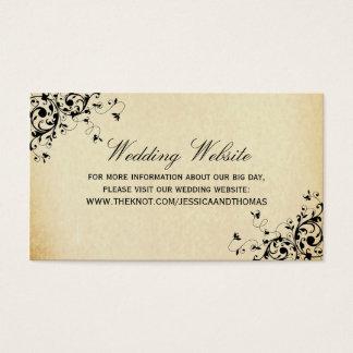 Elegant Antique Swirls Wedding Website