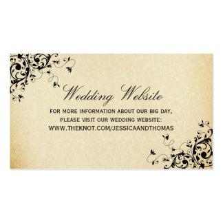 Elegant Antique Swirls Wedding Website Pack Of Standard Business Cards
