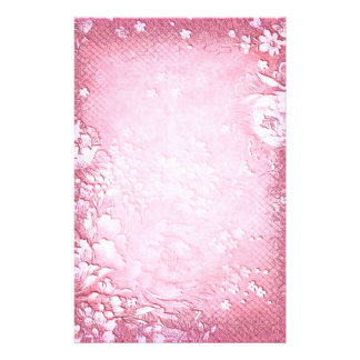 Elegant Antique Vintage Pink Floral Wedding Stationery Paper