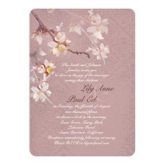 Elegant Apple Blossoms Wedding Invitation