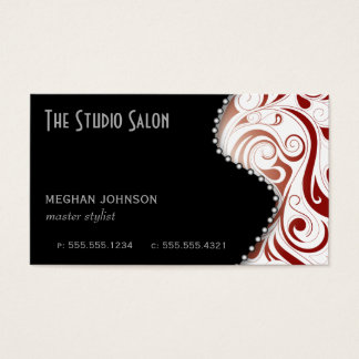 Elegant Appointment Business Card Crimson