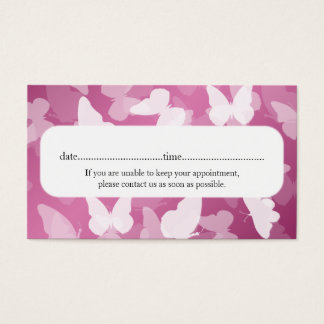 Elegant Appointment Card Butterflies Pink