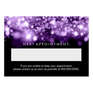 Elegant Appointment Card Purple Sparkling Lights Pack Of Chubby Business Cards
