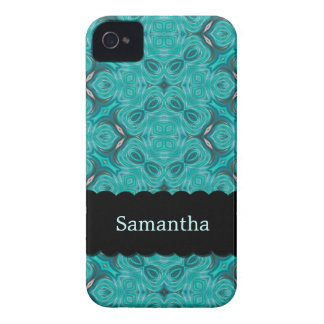 Elegant Aquamarine Personalized Case-Mate iPhone 4
