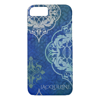 Elegant Arabesque Moroccan Tile Pattern Watercolor iPhone 7 Case