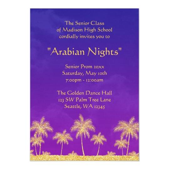 Elegant Arabian Nights Prom Formal Invitation