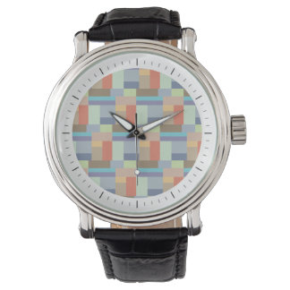 Elegant Architecture Retro Geometric Pattern Watch