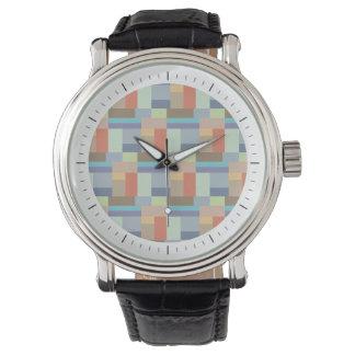Elegant Architecture Retro Geometric Pattern Wrist Watch
