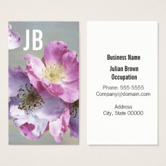Elegant Arctic Roses Business Card