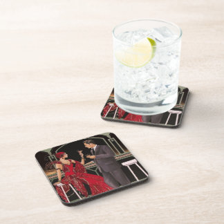 Elegant Art Deco Drinks at the Bar Coasters