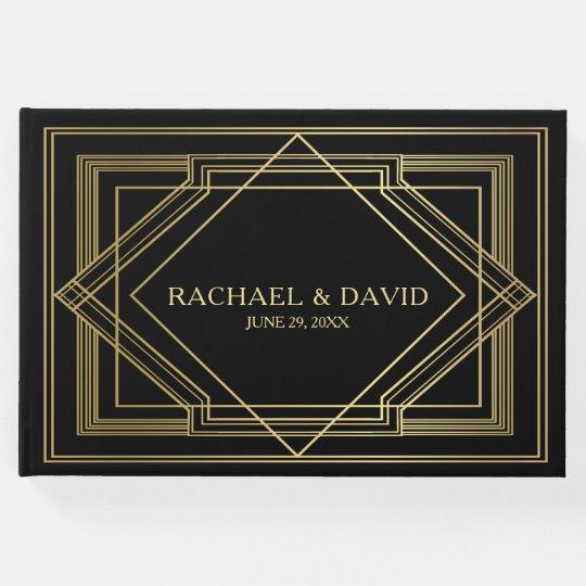 Elegant Art Deco Gatsby Style Wedding Guest Book