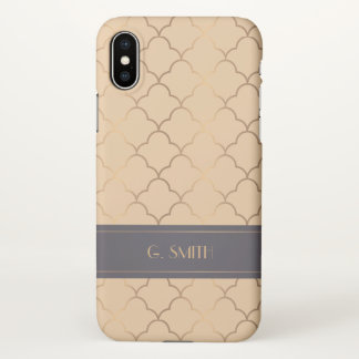 Elegant Art Deco Pattern. iPhone X Case