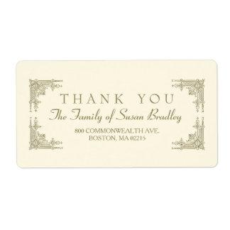 Elegant Art Deco style Family Thank you Label