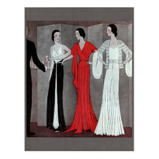 Elegant Art Deco Vintage Party Postcard