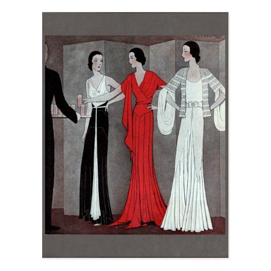 Elegant Art Deco Vintage Party Postcard