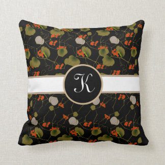 Elegant Asian Floral Cushion