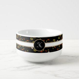 Elegant Asian Floral Soup Mug