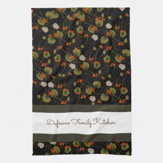 Elegant Asian Floral Tea Towel