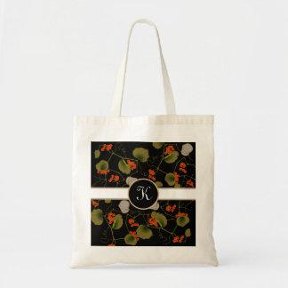 Elegant Asian Floral Tote Bag