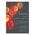 Elegant Asian Paper Lanterns Wedding Couple Shower Personalized Invitation