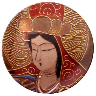 Elegant Asian Woman Porcelain Decorative Plate