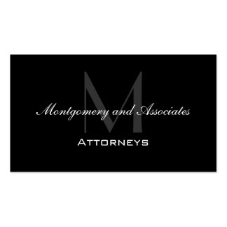 Elegant Attorney Business Cards Modern Monogram