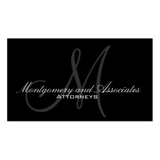 Elegant Attorney Business Cards With Monogram