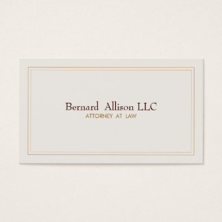 Elegant Attorney Ivory Professional Traditional