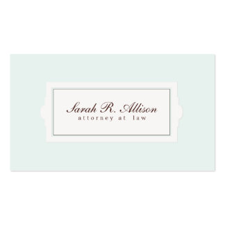 Elegant Attorney Plaque Style Light Blue Pack Of Standard Business Cards