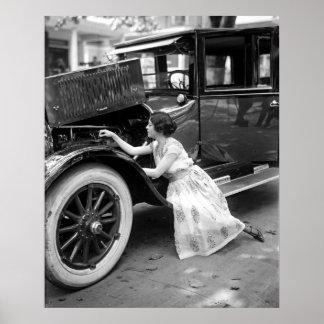 Elegant Auto Mechanic Poster