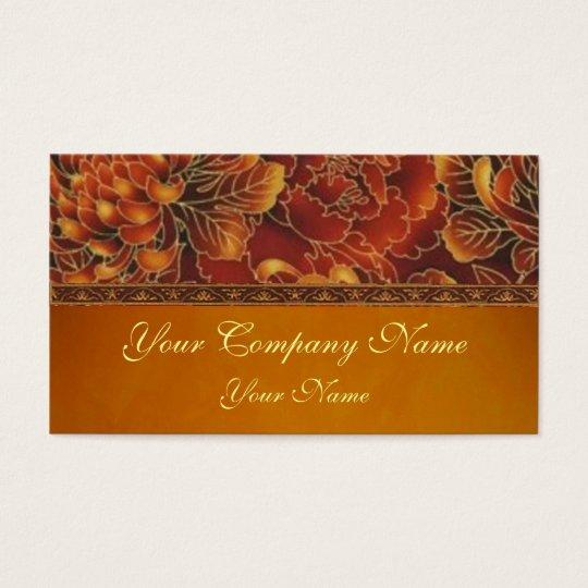 Elegant Autumn Frost Business Card