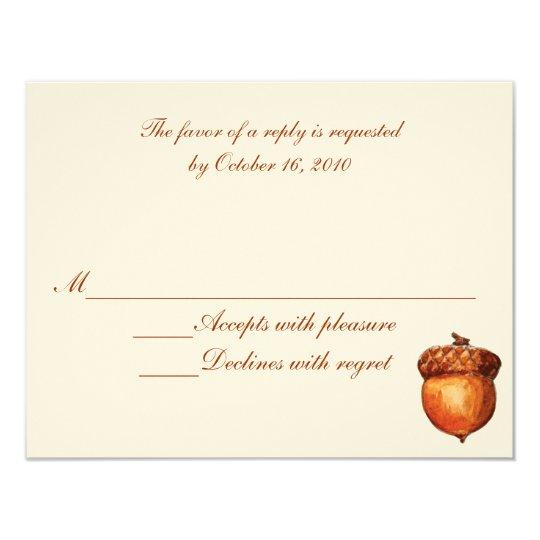 Elegant Autumnal Acorn Response Card