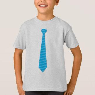 Elegant Baby Blue Stripes Tie T-shirt