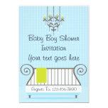 Elegant Baby Boy Shower Invitation