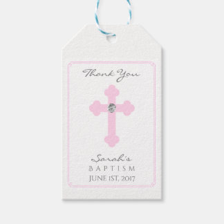 Elegant Baby Pink Cross Baptism/Christening Girl