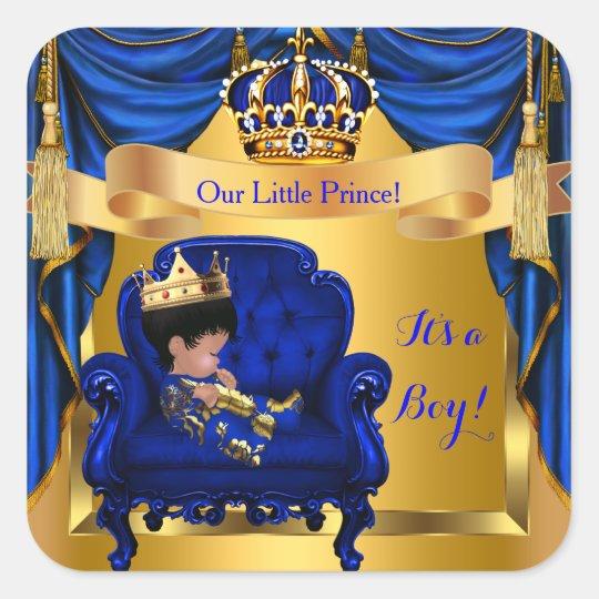 Elegant Baby Shower Boy Prince Royal Blue Gold