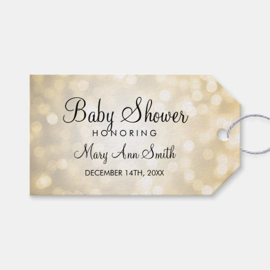 Elegant Baby Shower Favour Gold Glitter Lights Gift