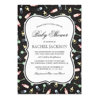 Elegant Baby Shower | Gender Reveal Boy or Girl Card