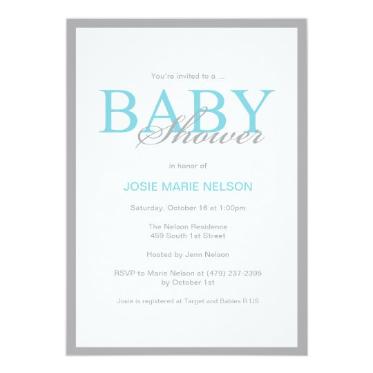 'Elegant Baby Shower' Invitation