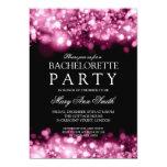 Elegant Bachelorette Party Sparkling Lights Pink 13 Cm X 18 Cm Invitation Card
