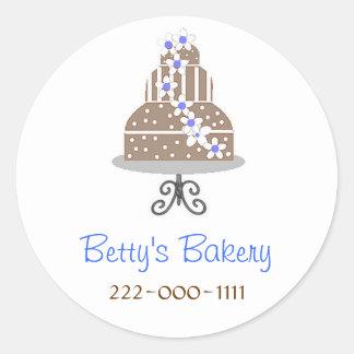 Elegant Bakery Stickers