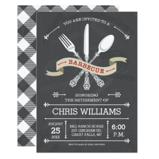 Elegant Barbecue Invitation - Chalkboard
