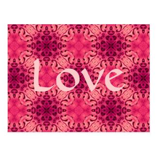 Elegant baroque in pink Love Postcard