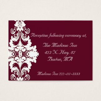 Elegant baroque Wedding enclosure cards