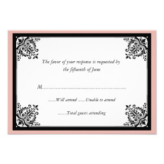 Elegant Baroque Wedding Response Card Custom Announcement